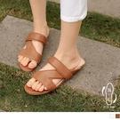 《SD0348》簡約率性平底羅馬涼鞋/涼拖鞋 OrangeBear