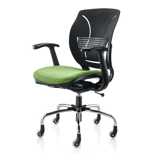 GXG 舒樂 短膠背 電腦椅 (電金腳座) 4+26SF