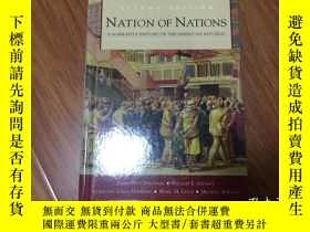 二手書博民逛書店英文原版書《NATION罕見of NATIONS》【外文圖書憑圖