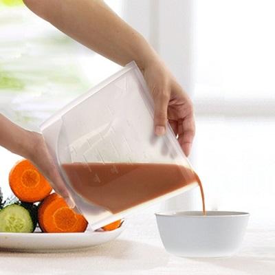 保鮮袋 密封袋(一組2入)-耐熱耐冷可直接加熱矽膠收納袋(顏色隨機出貨)73pp465[時尚巴黎]