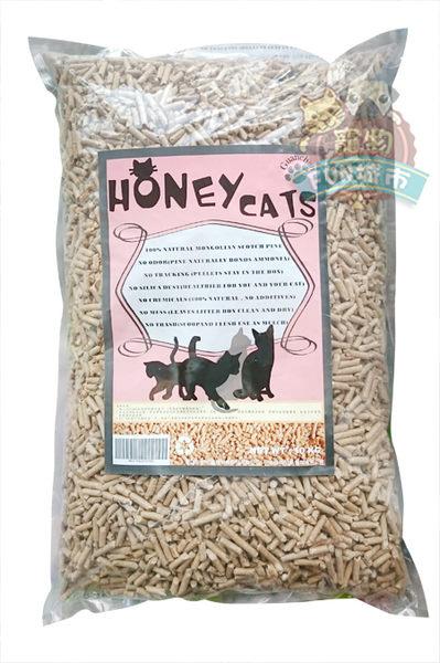 *~寵物FUN城市~* HoneyCat 松木砂10kg (崩解式貓砂/小動物適用)