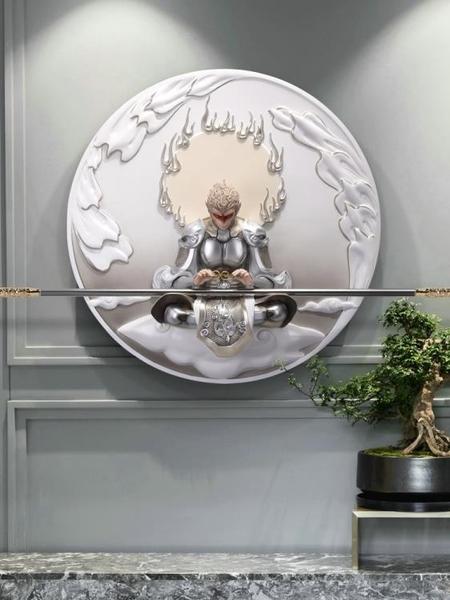 斗戰勝佛3D立體浮雕掛畫現代簡約客廳輕奢裝飾畫玄關書房壁畫悟空MBS「時尚彩紅屋」