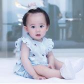 嬰兒公主哈衣女寶寶夏天夏季薄款潮服五6七個月夏裝3短袖連體衣服
