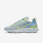 Nike REACT ELEMENT 55 [BQ2728-100] 女鞋 慢跑 運動 輕量 透氣 舒適 避震 藍白
