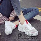運動鞋/女鞋子夏季新款網面透氣白鞋厚底跑步鞋