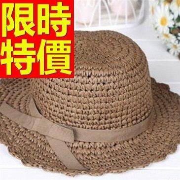 遮陽帽-氣質唯美透氣女防曬帽56g11[巴黎精品]