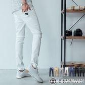 皮標超彈力工作褲【HK4205】OBIYUAN韓版貼身素面休閒褲 共7色