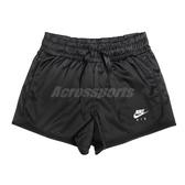 Nike 短褲 Air Satin Shorts 黑 女款 緞面 運動休閒 【ACS】 BV4630-010