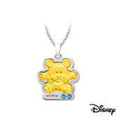 Disney迪士尼金飾 抱抱米奇黃金/白鋼項鍊