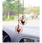 汽車飾品創意陶瓷招財貓汽車後視鏡掛飾車載吊墜女車內掛件 青山市集
