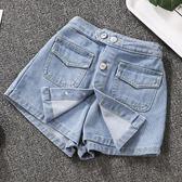 褲裙女童裝牛仔短褲裙褲子新款兒童夏季中大童洋氣外穿百搭薄款潮 小天使