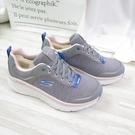 Skechers D LUX WALKER 女款 健走鞋 149336GYPK 灰色【iSport】