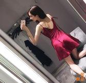 洋裝連身裙夏季時尚氣質顯瘦禮服性感夜店女裝潮露背吊帶抹胸連身裙