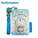 【日本正版】哆啦A夢 皮革 彈力票卡夾 票夾 證件套 悠遊卡夾 小叮噹 DORAEMON 三麗鷗 - 516994