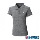 K-SWISS Small Neon Logo Polo排汗POLO衫-女-灰