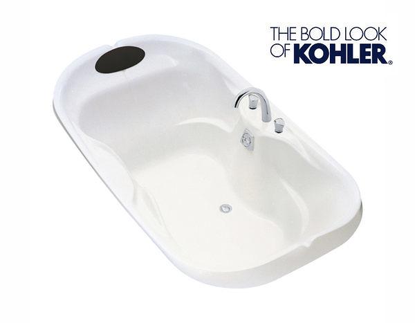 【麗室衛浴】美國第一品牌KOHLER 造型浴缸  FLEUR 壓克力浴缸(白)  K-1328T-0