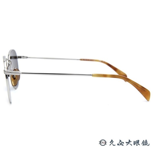 DB EYEWEAR 貝克漢設計品牌 DB 1005S (銀) 圓框 太陽眼鏡 久必大眼鏡