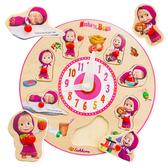 瑪莎手抓拼圖時鐘 兒童玩具 益智玩具 手抓板