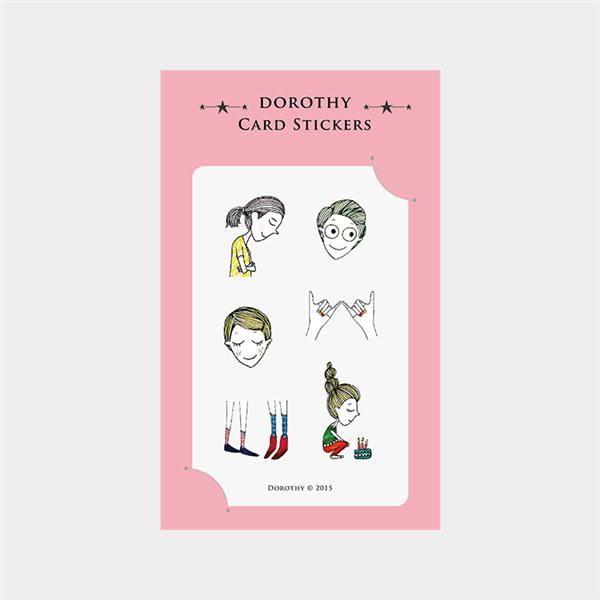 Dorothy/防水票卡貼-蛋糕女孩