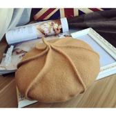 貝雷帽 素色 羊毛 南瓜帽 英倫 畫家帽 貝雷帽【QI1839】 ENTER