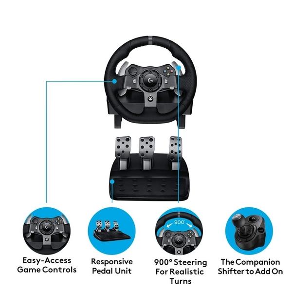 [2美國直購] Logitech 賽車遊戲套組 G920 方向盤 腳踏 適用Xbox One / Xbox Series X / PC