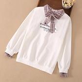 女童長袖t恤2020兒童秋冬裝中大童9加絨洋氣上衣12女孩15歲打底衫 小艾新品