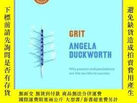 二手書博民逛書店堅毅罕見釋放激情與堅持的力量 英文原版書 Grit 平裝版 安傑