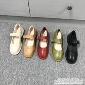 一字扣瑪麗珍單鞋年新品韓版春秋鞋復古英倫方頭黑色小皮鞋女 雙十二全館免運