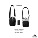 IMPACT Adidas 3 Stripes Organizer Bag 黑 灰 三線 腰包 斜背包 側背包 DU2006 DQ1074