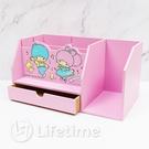 ﹝雙子星45週年筆筒書架盒﹞正版 筆筒 收納盒 置物盒 書架 木櫃 雙子星〖LifeTime一生流行館〗