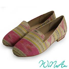 WINEAN薇妮安-都會時尚日式雅痞休閒鞋(蜜桃粉南美風格)-WNA-1006