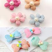 絨面蝴蝶花朵髮夾 兒童髮飾 造型髮夾