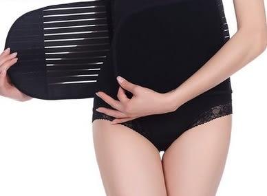 中型中款背部調節鬆緊粘美體腰封-mov10010