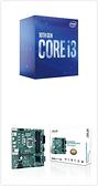 【自組DIY兩件組I3】Intel i3-10100+華碩 PRO B560M-C/CSM