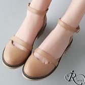 歐美時尚粉色系扣環圓領包鞋/3色/35-39碼 (RX0008-9537) iRurus 路絲時尚