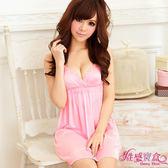 【性感寶盒】★粉嫩小公主!柔緞睡襯衣★粉紅┌NA09020030