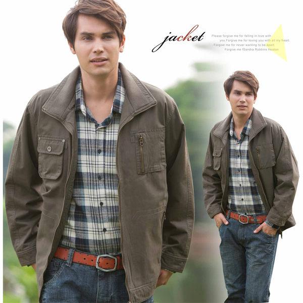 【大盤大】J95981 鋪棉外套 男 冬 長袖 機車 保暖 防風外套 休閒夾克 父親節 拉鍊外套 素面 過年