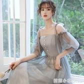 伴娘服仙氣質2021新款春夏季長款宴會晚禮服顯瘦姐妹團伴娘禮服女 范思蓮恩