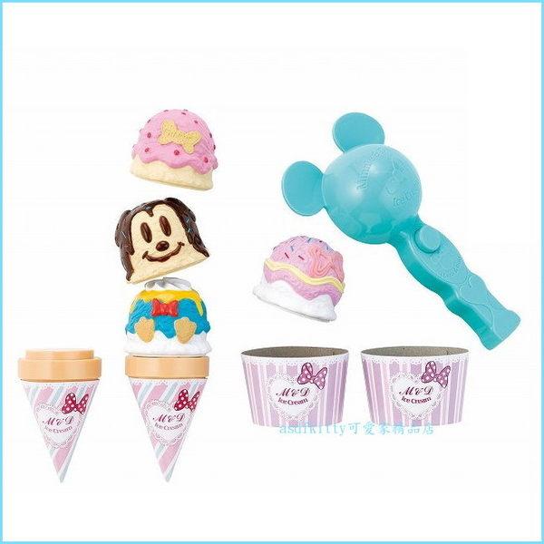 asdfkitty可愛家☆迪士尼米妮冰淇淋玩具遊戲組-扮家家酒-兒童玩具-禮盒組-送禮物-日本正版商品