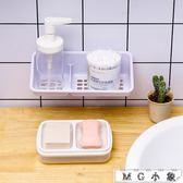 肥皂盒雙格皂盒創意便攜帶蓋香皂盒 肥皂盒