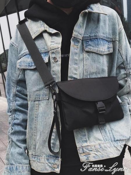 土酷包斜挎小包女背包蹦迪胸包嘻哈街頭潮流學生個性單肩包男 范思蓮恩