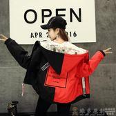 夾克外套 冬季學院風棉衣棉服女短款加厚學生韓版bf麵包服棒球服情侶裝外套 DF 免運 維多