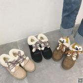 2018日系雪地靴原宿可愛面包鞋冬韓版學生懶人短靴加絨棉鞋女冬 CY潮流站