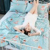 涼感天絲雙人加大床包兩用被四件組 喵星人-藍
