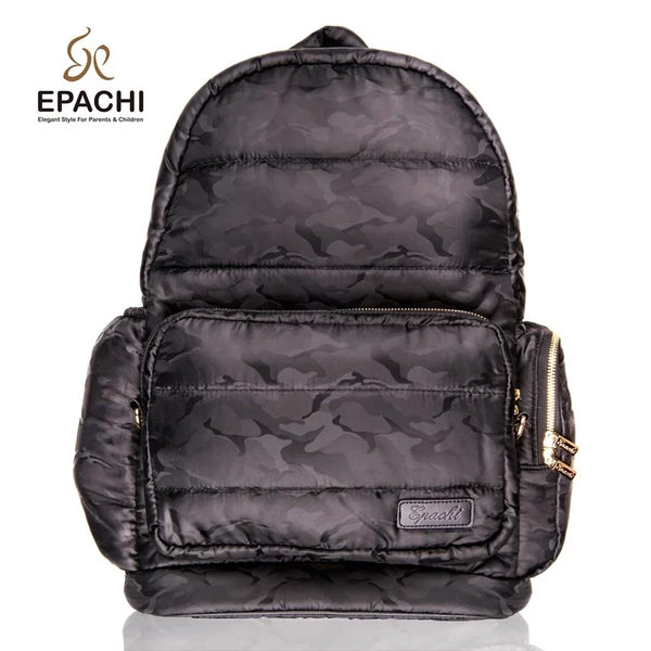 EPACHI WOW 時尚多功能雙拆卸黑金迷彩後背包(尺寸:L)