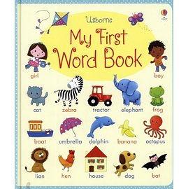 【麥克書店】USBORNE: MY FIRST WORD BOOK /硬頁精裝書