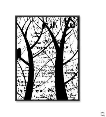 簡約現代客廳創意黑白裝飾畫沙發背景牆掛畫北歐臥室壁畫牆畫BF