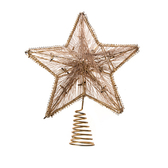金色五角星LED樹頂星29cm