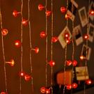 【358百貨】小紅燈籠led彩燈閃燈串燈帶結婚開業氛圍房間布置裝飾掛燈小夜燈