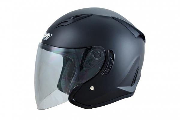 【OUTLET出清商品】M2R J-5 消光黑色 四分之三安全帽